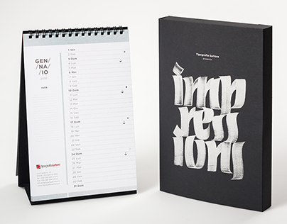 Calligraphy Calendar 2016 - IMPRESSIONS