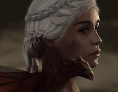 Fanart Study: Khaleesi