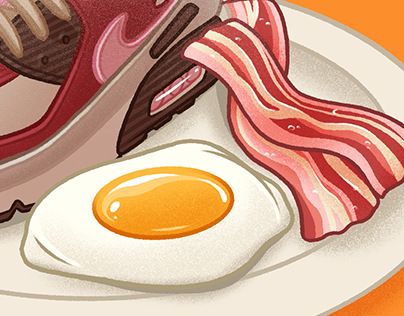 Air Max 90 'Bacon' - Sneaker Illustration
