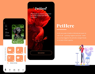 PetHere - UX/UI case study for pet selection and care