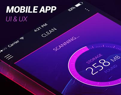 Mobile cleaner app UI & UX