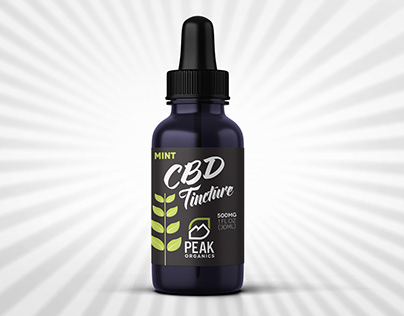 Peak Organics CBD Tincture bottle label