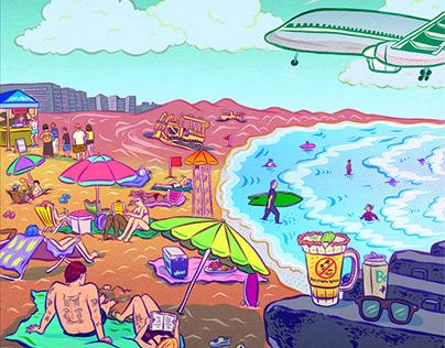 Summer Themed Illustrations
