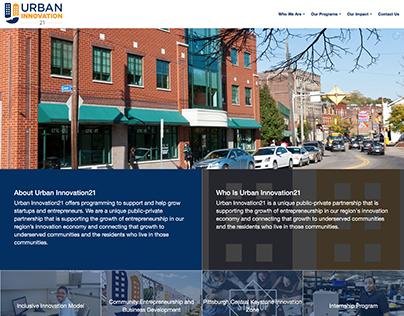UrbanInnovation21.org Website Design and Build.