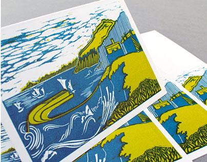 London Cornish Association: greetings card illustration