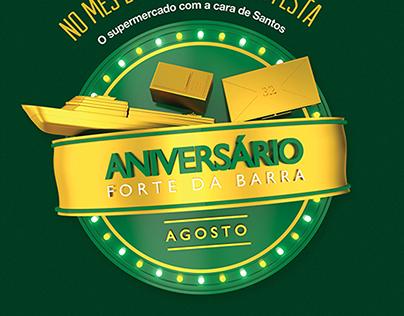 Campanha Aniversário Supermercado Forte da Barra