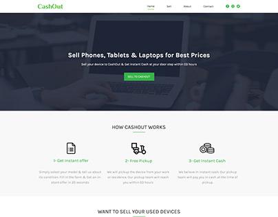 Website design for Cashout