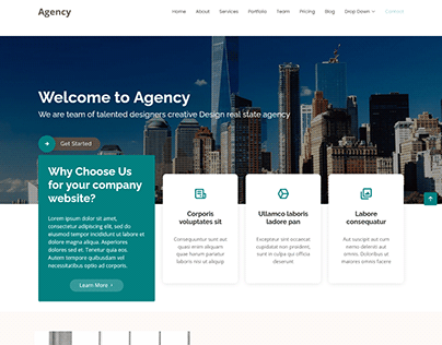 Agency - HTML5 Bootstap 4 Responsive Business Website