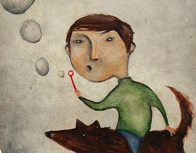 Acryl Illustration  - le petit Ole