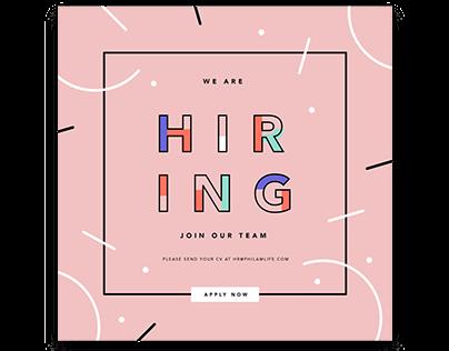 Job Hiring post