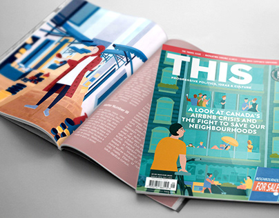 Cover and Features for THIS magazine