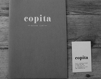Logo, business card and Menu design for Copita