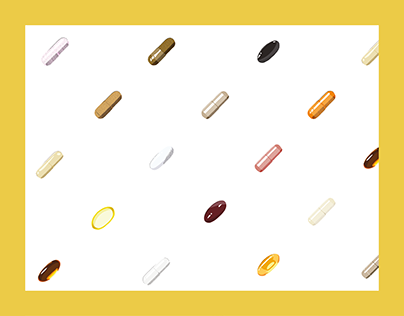 Cute realistic vector pills pattern