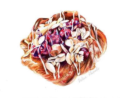 Cherry pie / Food illustration