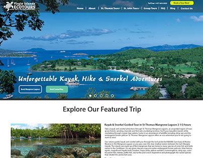 Virgin Island Ecotours Wordpress Design