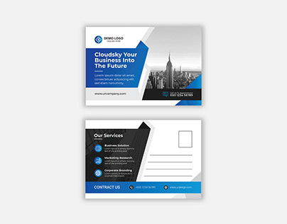 Corporate Modern Postcard or eddm Postcard design vol-3