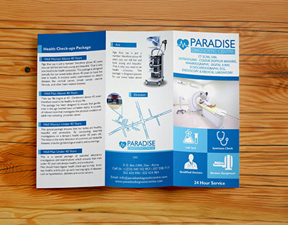 Paradise Diagnostic Trifold Brochure