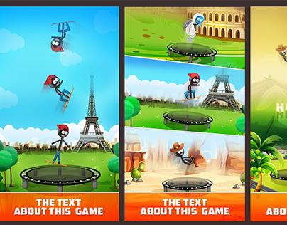 IOS Game Screenshots + game UI.