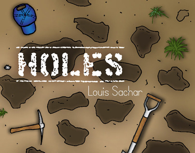 Holes book cover illustration - competition entry
