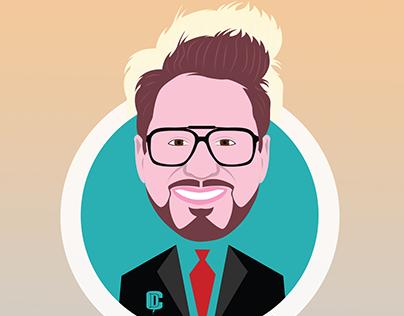 Robert John Downey Jr. vector by CevikDesign