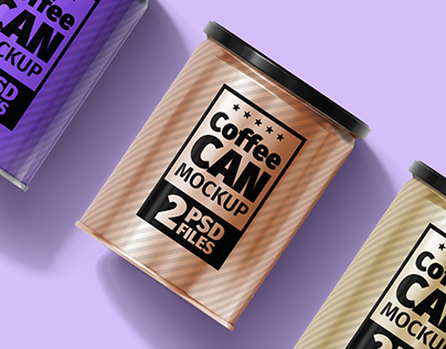 Metal Coffee Can Mock-Ups