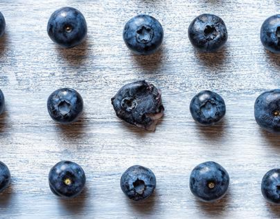 Blueberry photo pattern