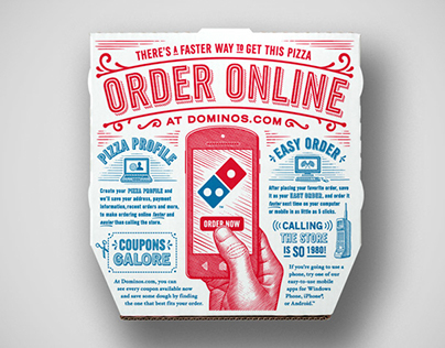 Domino's Pizza Illustrations