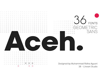Aceh Sans Serif Font Family