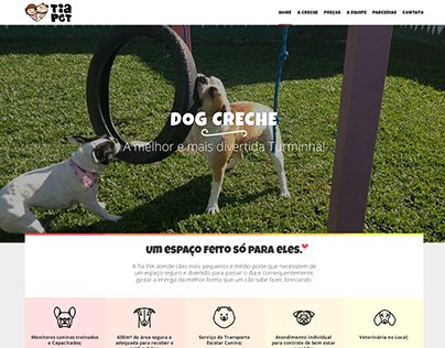 Pet DayCare website design