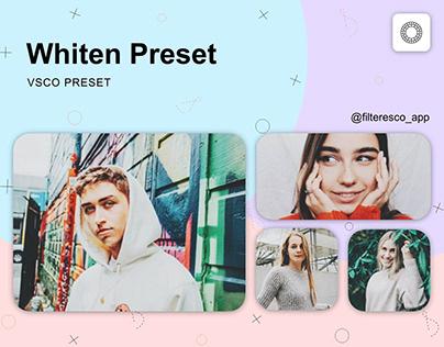 Whiten - VSCO Preset - Filteresco app