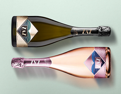 Zaz Sparkling Wine- Label and Packaging Design