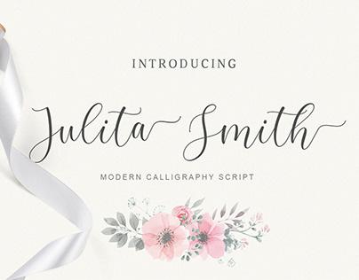 Julita Smith-script font