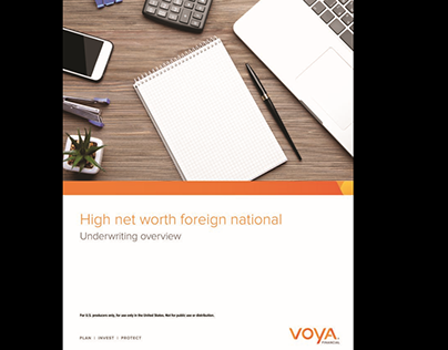 Underwriter Email, Presentation + Flyer for Voya