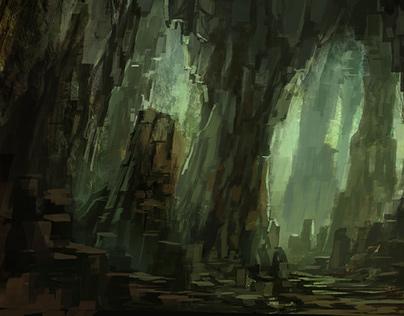 Environment Cave Illustrations