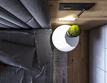 Bedroom and kitchen interior design