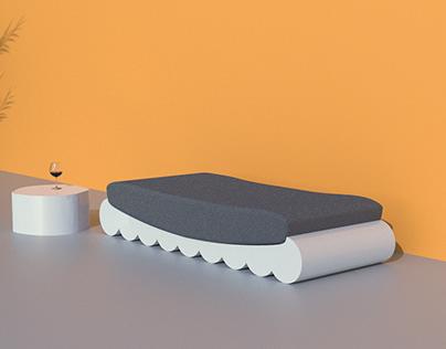 Sculptural daybed