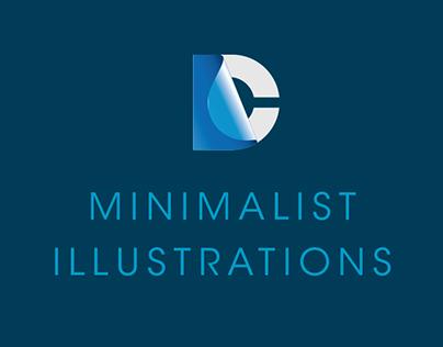 Minimalist illustrations of DC characters