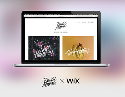 David Milan & Wix - Website - Redesign concept