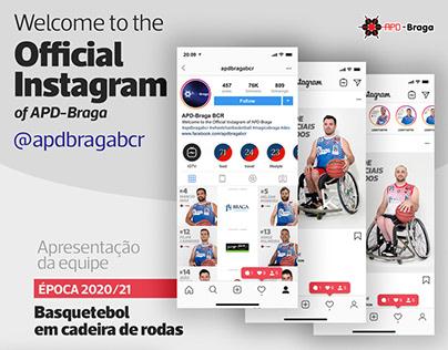 APD Braga BCR no Instagram