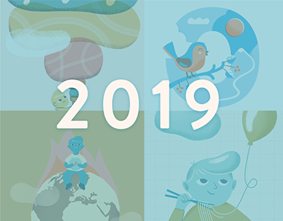 2019: a pile of illustrations