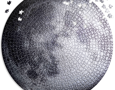 Round Lab Silver Moon - 1000 piece Jigsaw Puzzles