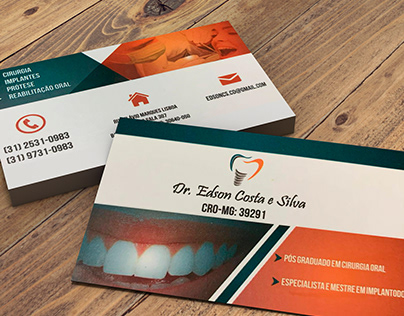 Cartão de Visitas Dentista Edson Costas e Silva