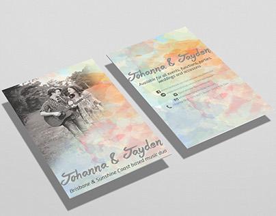 Music Duo Business Card Design