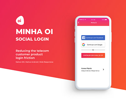 Reducing Minha Oi login friction
