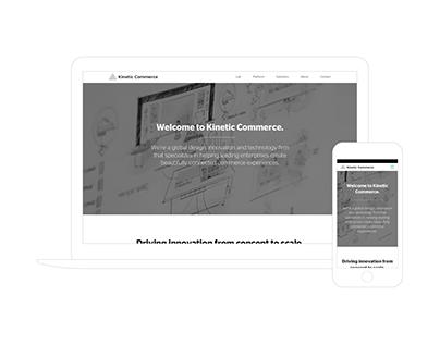 Kinetic Commerce Responsive Website