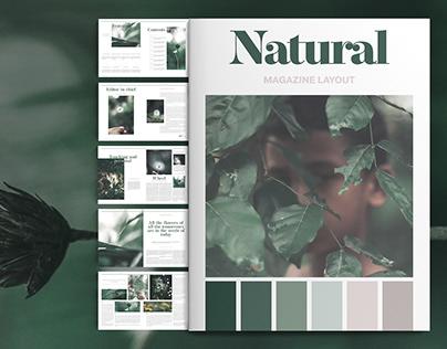 Natural Magazine Layout
