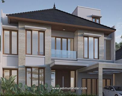 Rumah Tropis Moderen Darmahusada Indah Selatan Surabaya