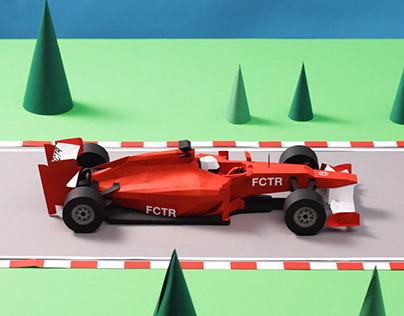 Paper Race Car