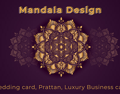 Luxury Mandala and Wedding card template Design