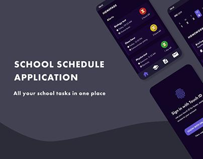 School Schedule application